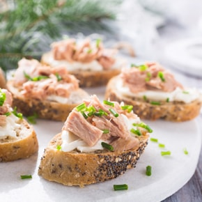 Tuna on bread