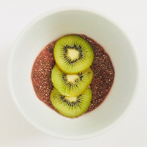 Watermelon Kiwi Chia Pudding